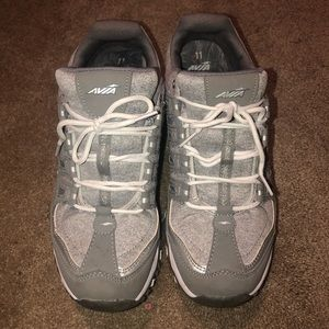 Gray and white Avia Memory Foam Sneakers